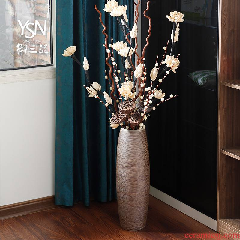 Dried flower flower arranging flower art ceramic decorative vase furnishing articles be born Nordic a large vase I and contracted American living room