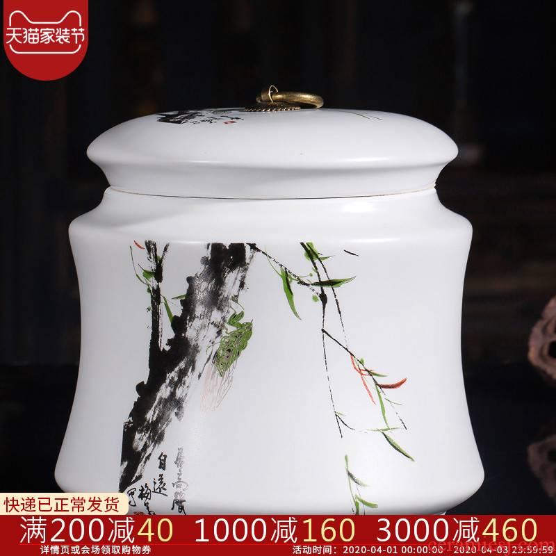 Jingdezhen ceramics seal caddy fixings household storage tanks with pu 'er tea tea storehouse canners large a kilo
