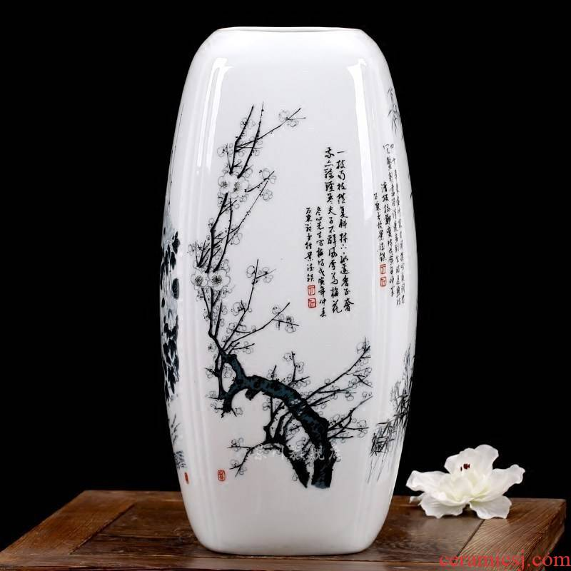By patterns and floret bottle of jingdezhen ceramics flower home mesa of I sitting room adornment is placed