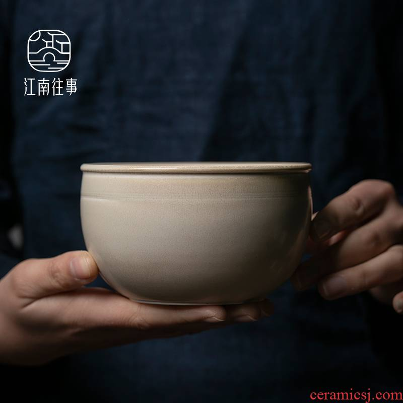 Jiangnan tea set built water tea to wash hand past dust firewood wide expressions using for wash the ceramic cups tea accessories dross barrels