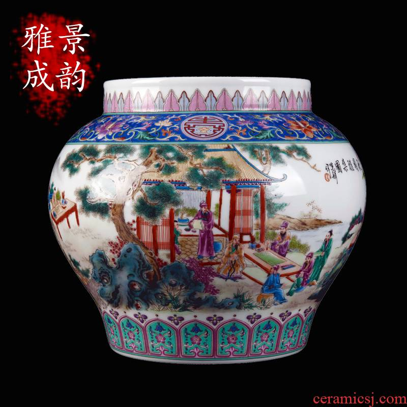Jingdezhen ceramic hand - made of autumn garden gathering furnishing articles sitting room of Chinese style household porcelain vase decorations arts and crafts