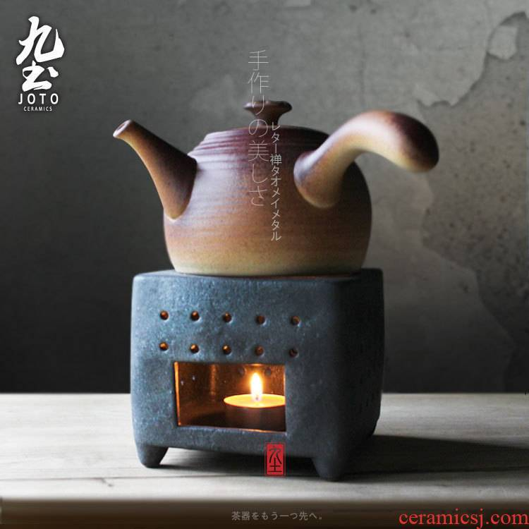 About Nine soil Japanese health tea kettle boiling kettle alcohol charcoal'm stove with lateral boil ceramic teapot tea