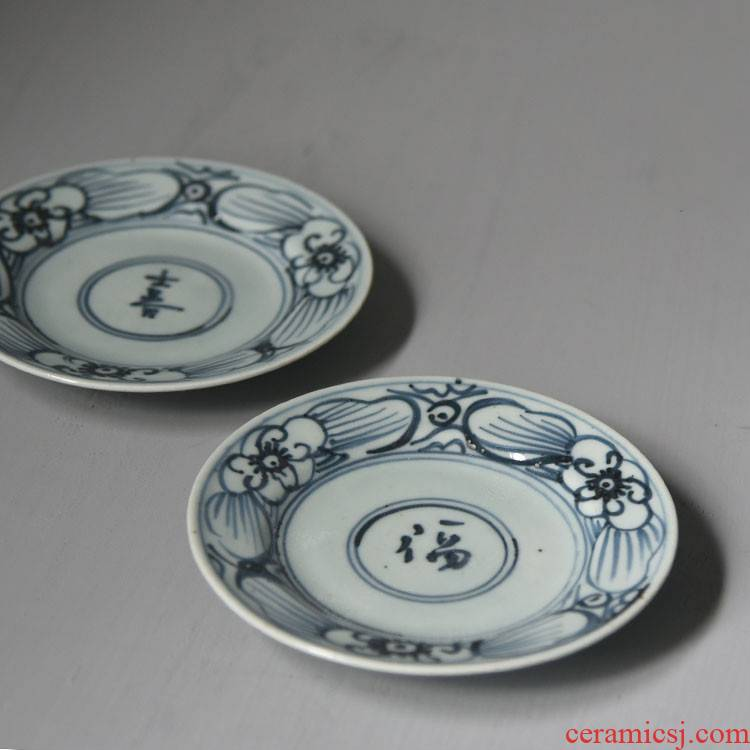 Poly real view jingdezhen factory goods antique porcelain pot of tea tray bearing restoring ancient ways pot cup mat
