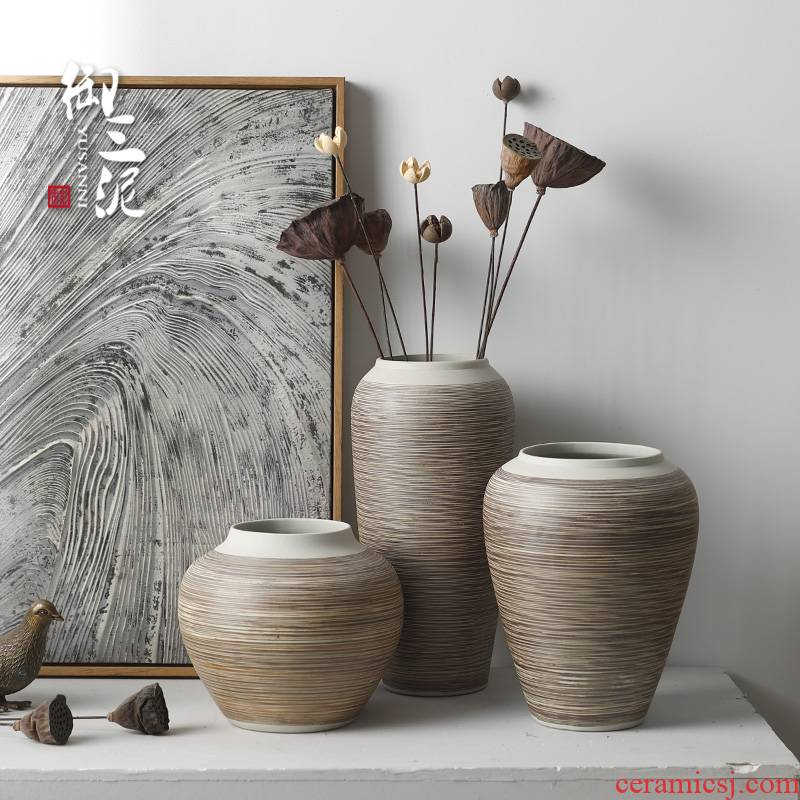Contracted and I ceramic countertops dry coarse some ceramic pot vase decoration restoring ancient ways furnishing articles sitting room put flowerpot grain boundary line