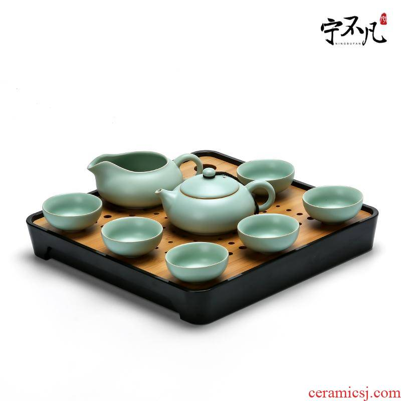 Rather uncommon your up kung fu tea set suit household ceramics slicing the teapot fair keller cup teapot tea tray package