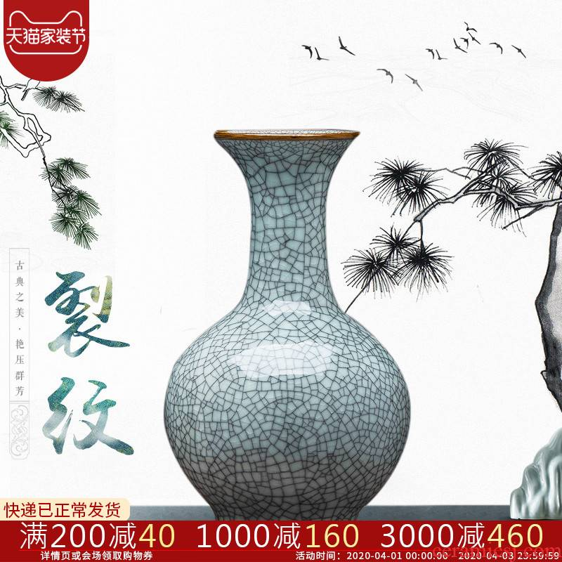 Jingdezhen ceramics up vases, flower arranging archaize sitting room of Chinese style household rich ancient frame crafts ornament