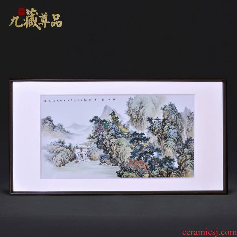 Jingdezhen ceramics dong - Ming li hand - made akiyama agile porcelain plate painting the sitting room adornment household craft