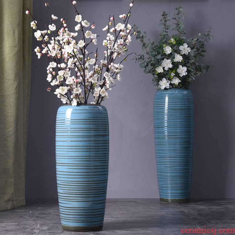 European vase landing large vases, flower arranging jingdezhen ceramic POTS home furnishing articles, the sitting room porch decoration