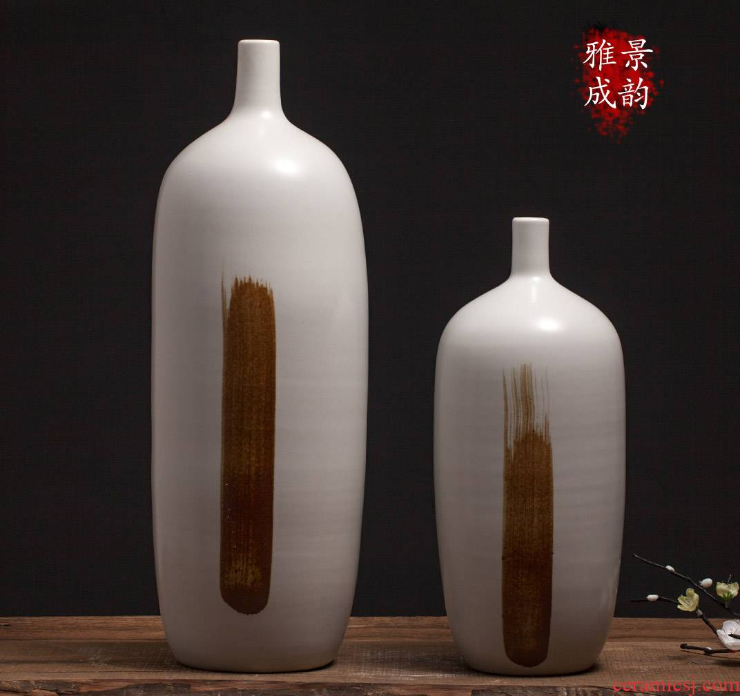 Jingdezhen ceramic household act the role ofing is tasted the new Chinese flower arrangement craft porcelain vase furnishing articles sitting room table in northern Europe