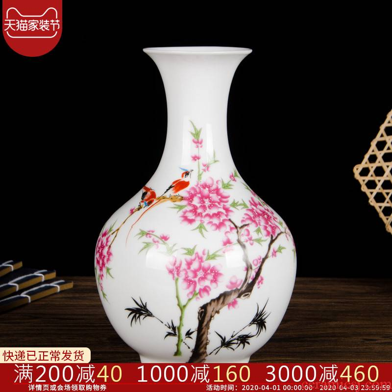 Cb123 jingdezhen ceramics floret bottle of flower arrangement sitting room of I and contracted household adornment lucky bamboo furnishing articles