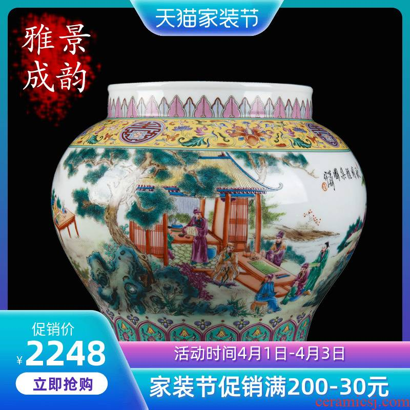 Jingdezhen ceramic new sitting room of Chinese style household furnishing articles I and contracted porcelain vase decorations decoration