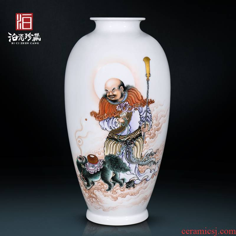 Jingdezhen ceramics hand - made lohan decoration as the new Chinese style household vase sitting room collection furnishing articles
