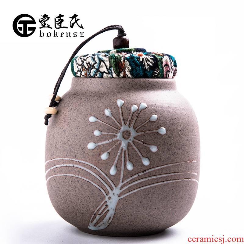 Caddy fixings ceramic seal pot small medium storage tanks with portable tea tea Caddy fixings custom LOGO