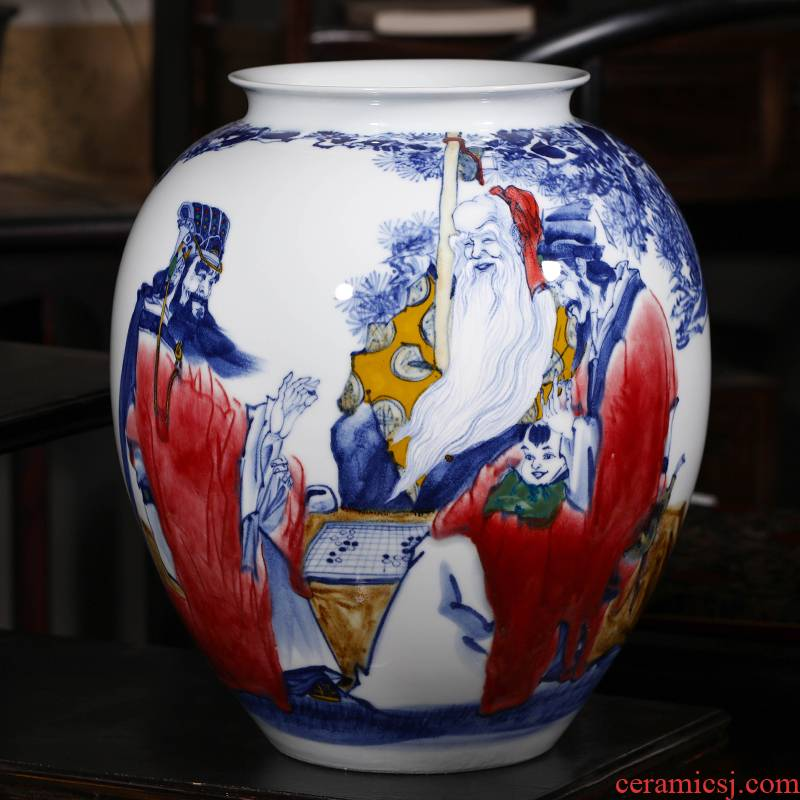 The Master of jingdezhen ceramics hand - made samsung under variable vase Chinese sitting room ark of tea table furnishing articles gifts