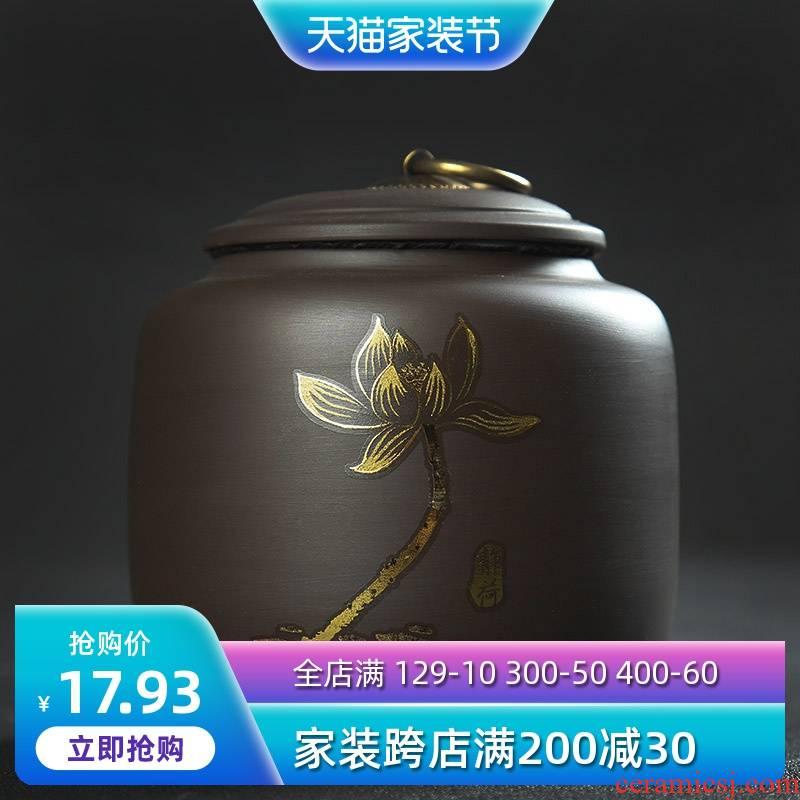 Is Yang, yixing purple sand tea pot pu 'er tea large pot seal pot of green tea auspicious tank storage tanks