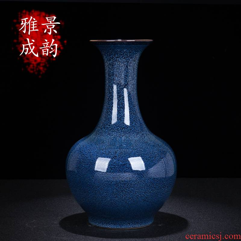 Jingdezhen ceramic variable glaze flower arrangement of new Chinese style household, sitting room porch vases, decorative porcelain furnishing articles