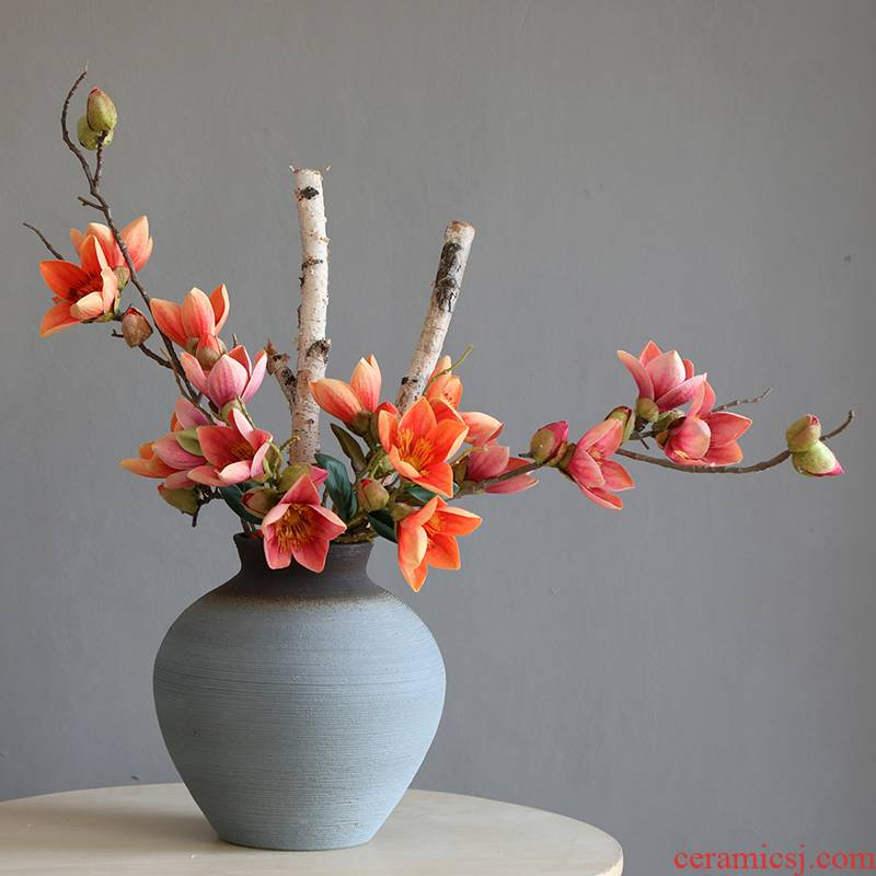 Ceramic vases, I and contracted sitting room and landing flower arranging new Chinese style living room TV ark, new Chinese style household furnishing articles
