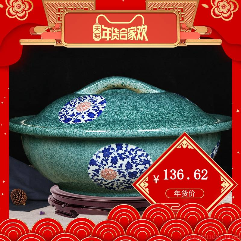 Jingdezhen ceramic and knead face basin basin thickening deepen xiancai basins basin home with cover without cover basin bowl