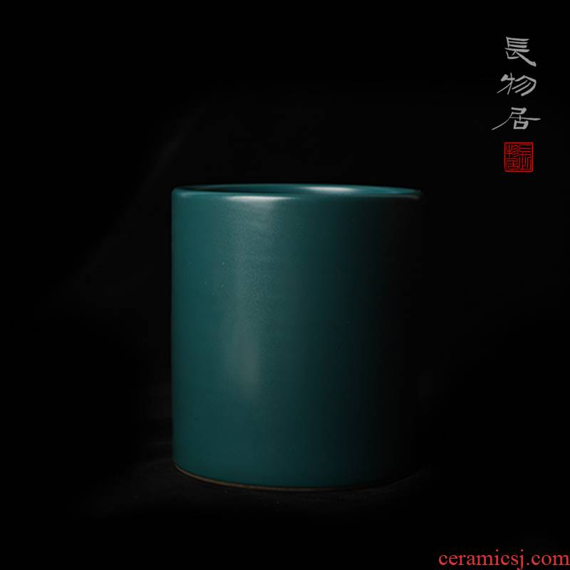 """Offered home - cooked in manual malachite green glaze """"four supplies pen pen container jingdezhen ceramic antique Chinese wind restoring ancient ways"""