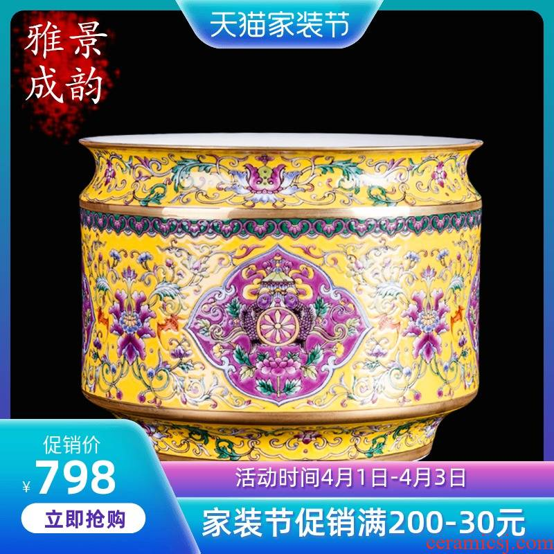 Jingdezhen ceramic hand - made famille rose porcelain vase furnishing articles the opened new Chinese style household decoration craft porcelain gifts