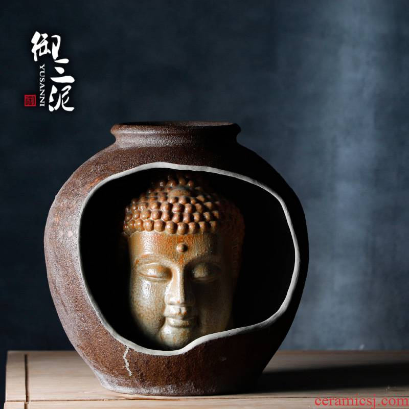 Chinese zen strange figure micro landscape waterscape furnishing articles ceramic Buddha Buddha first decorative arts creative vase