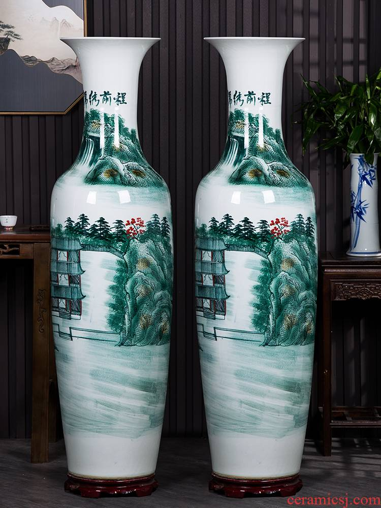 Jingdezhen ceramics manual hand - made bright future of large blue and white porcelain vase sitting room hotel decoration furnishing articles