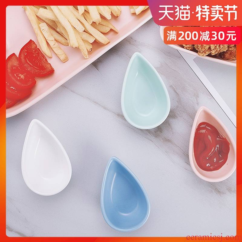 Sauce dish flavor dish barbecue meat hot pot dip dish of salad Sauce vinegar dish of soy Sauce dish ceramic small plate plate