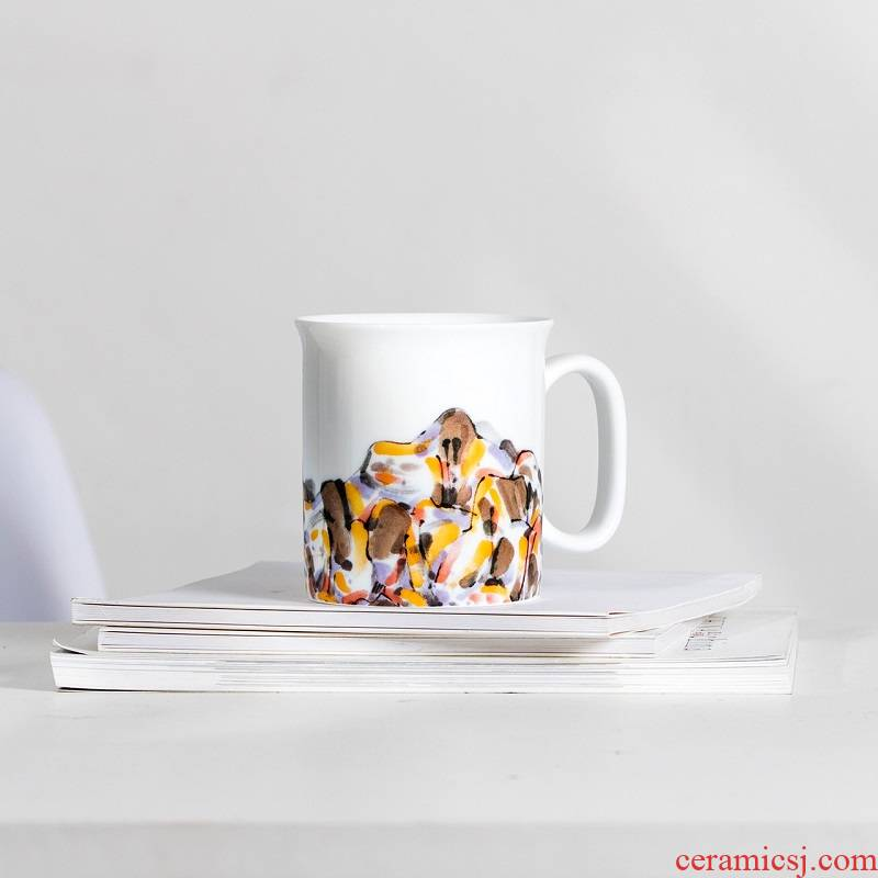 """Godwin zhang"" jingdezhen ceramic art derivatives mark cup with the creative concept of glass cups"