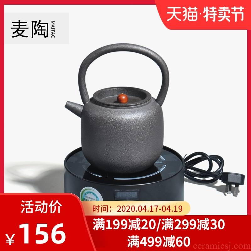 MaiTao Japanese manual black pottery curing burn kung fu tea set girder teapot the boiled tea, the electric TaoLu suits for