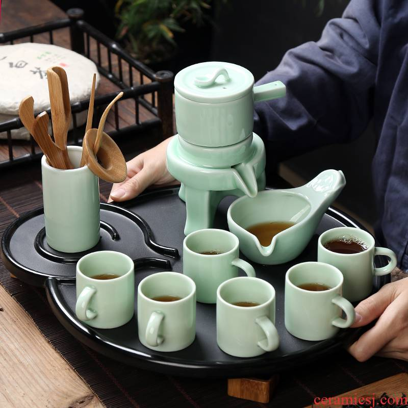 Stone mill lazy tea to implement kung fu tea set suit household automatic contracted Japanese creative ceramic teapot