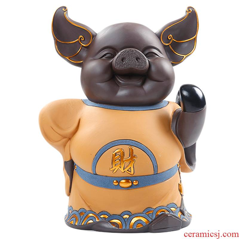 """Shadow at marshal lucky thousand """"get lucky pig large furnishing articles and creative boutique purple HBZP home office"""