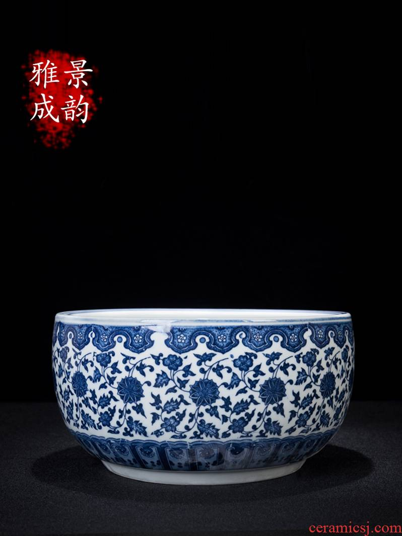 Blue and white porcelain of jingdezhen ceramics cornucopia furnishing articles new Chinese porcelain rich ancient frame home decoration decoration