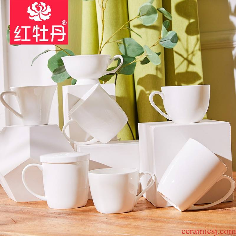 Ipads China mugs white household contracted porcelain cups, ceramic cup getting breakfast cup white office cup