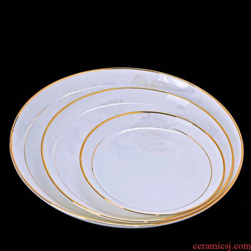 Europe type style dishes suit household jingdezhen ceramic dishes spoon combination of high - grade ipads China tableware in up phnom penh