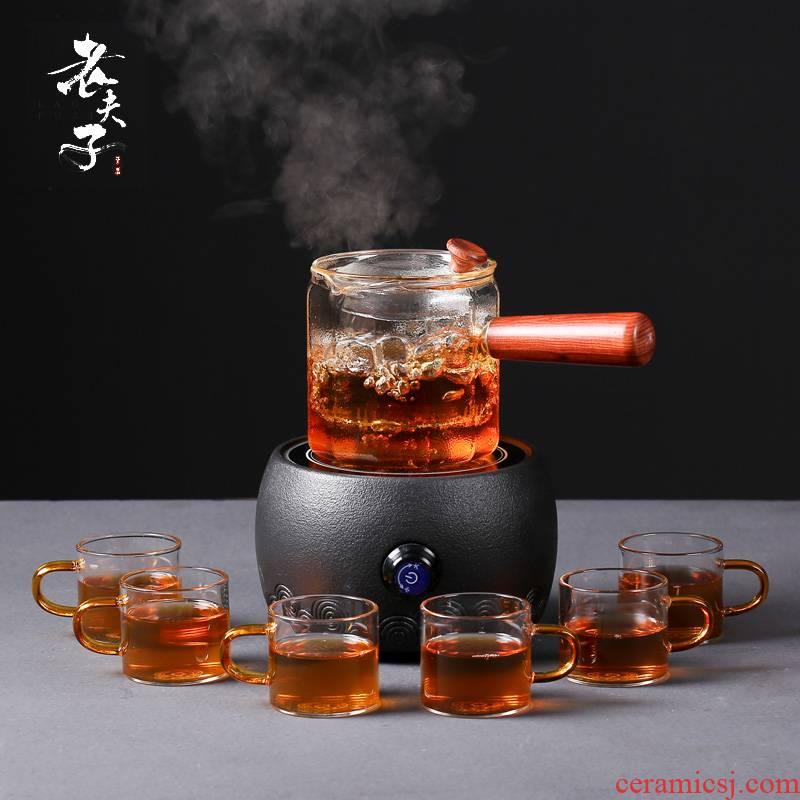 Flowers glass teapot fruit tea tea sets tea cup boiling tea pu - erh tea, black tea household electric TaoLu
