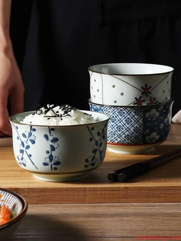 J together scene more Japanese ceramic bowl of creative design of household utensils wind restoring ancient ways under the glaze color eat bowl soup bowl