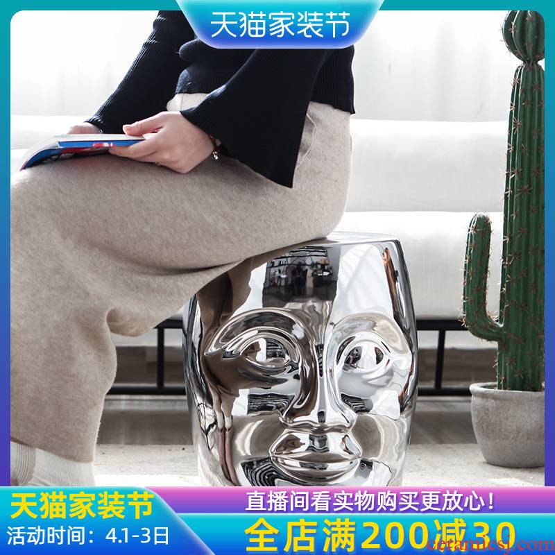 Jingdezhen ceramic creative new Chinese style who furnishing articles sitting room, dining - room hotel villa in shoes who silver dressing who