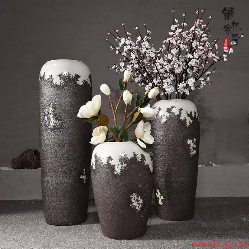Ceramic sitting room ground European big vase simulation flower flower furnishing articles villa hotel contracted type Ceramic vase
