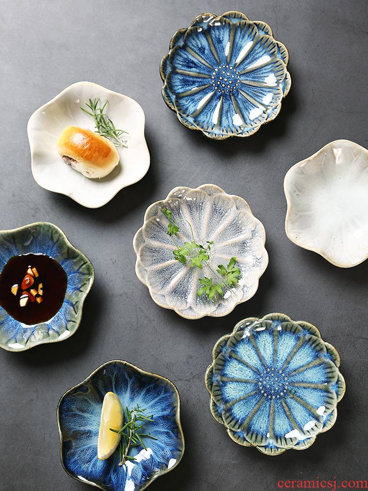 Creative ceramic flavour dishes, lovely home touch water dish bowl dish of ltd. snack dish of Japanese candy dishes