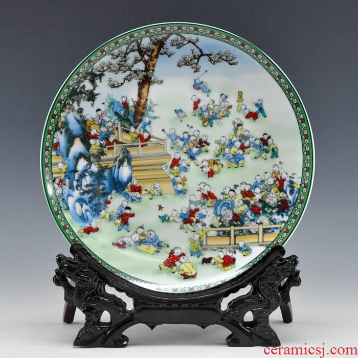 Hang dish decorative plate pastel figure porcelain jingdezhen ceramic furnishing articles home sitting room handicraft the ancient philosophers