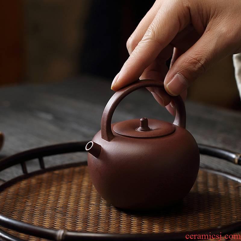 Cloud Cloud Wu Yafei 】 the it undressed ore purple clay tea set is a type manual home tea kettle