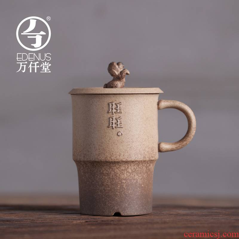 M letters kilowatt/hall office cup new ceramic dog zodiac glass mugs with dustproof cover cups want want