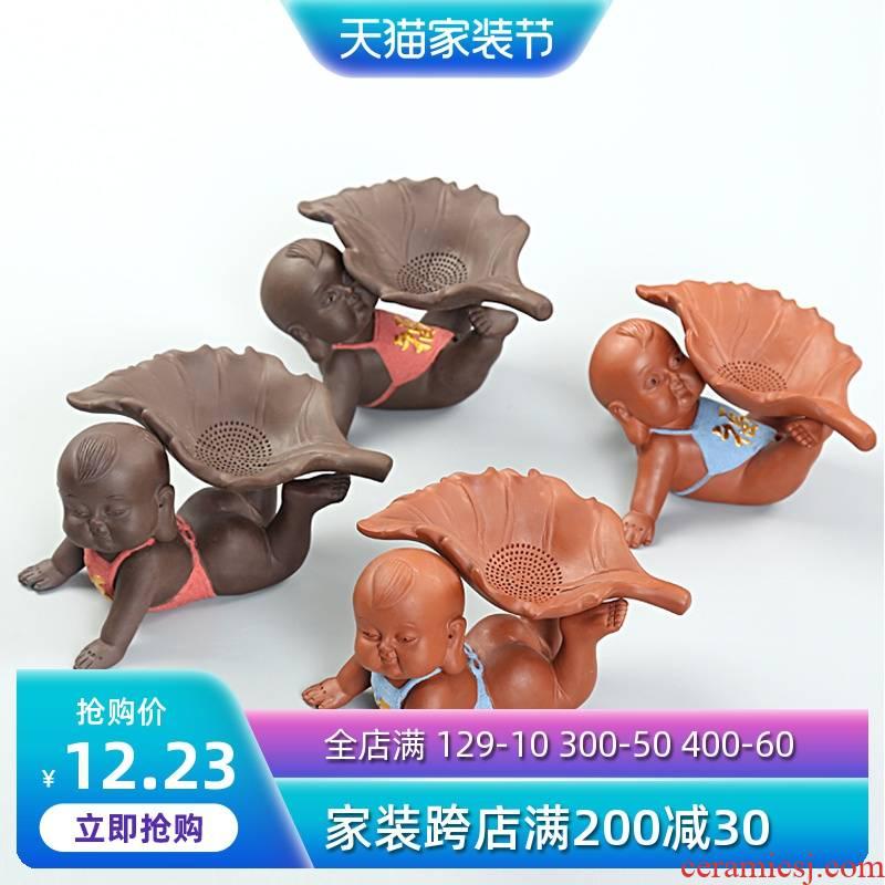 Is Yang ore violet arenaceous) tea strainer every tea filter play tea pet creative filter kung fu tea set
