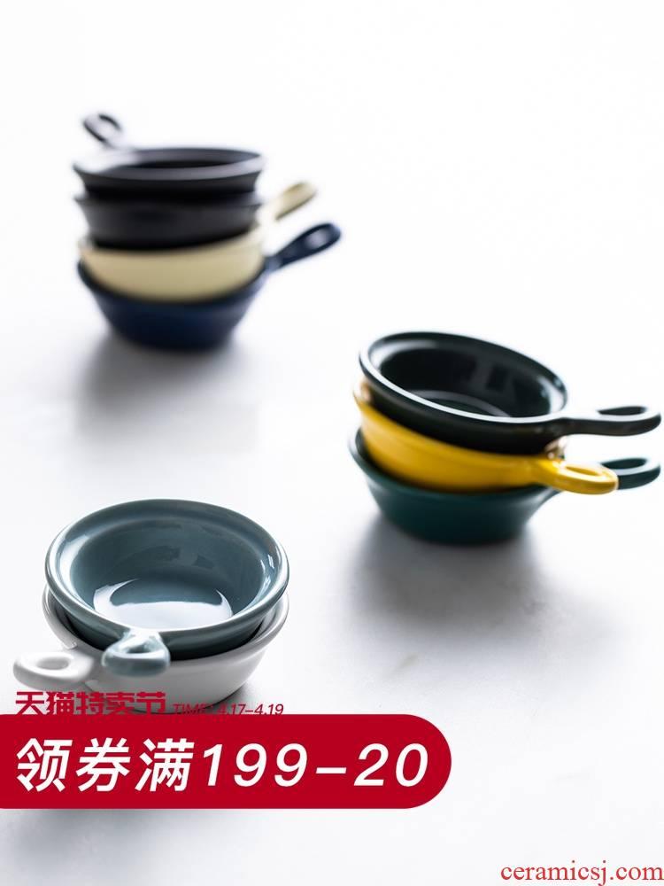 Eat saga European - style ceramics flavor dish take small household sauce dish dish dish move creative dip vinegar dish dish