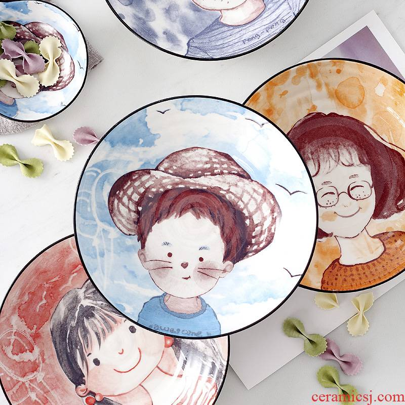 0 m jobs the dishes suit home plate rainbow such as bowl bowl creative cartoon ceramic dishes individual move