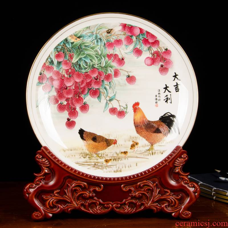 Jingdezhen chinaware paint ipads China prosperous hang dish decorative plate of the sitting room porch place z029 ornament