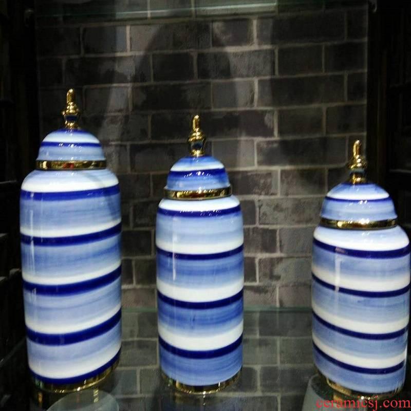 Jingdezhen porcelain furnishing articles 980 blue 2 piece