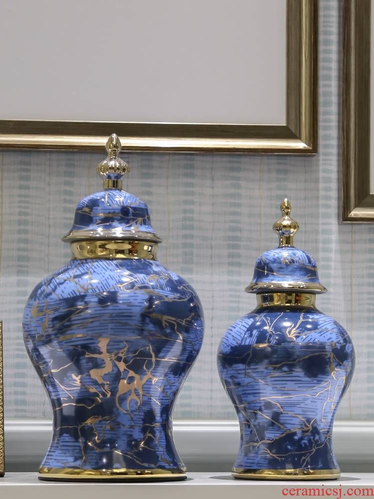 The General light jingdezhen European - style key-2 luxury as cans ceramic vases, furnishing articles I sitting room household act the role ofing is tasted creative decorations