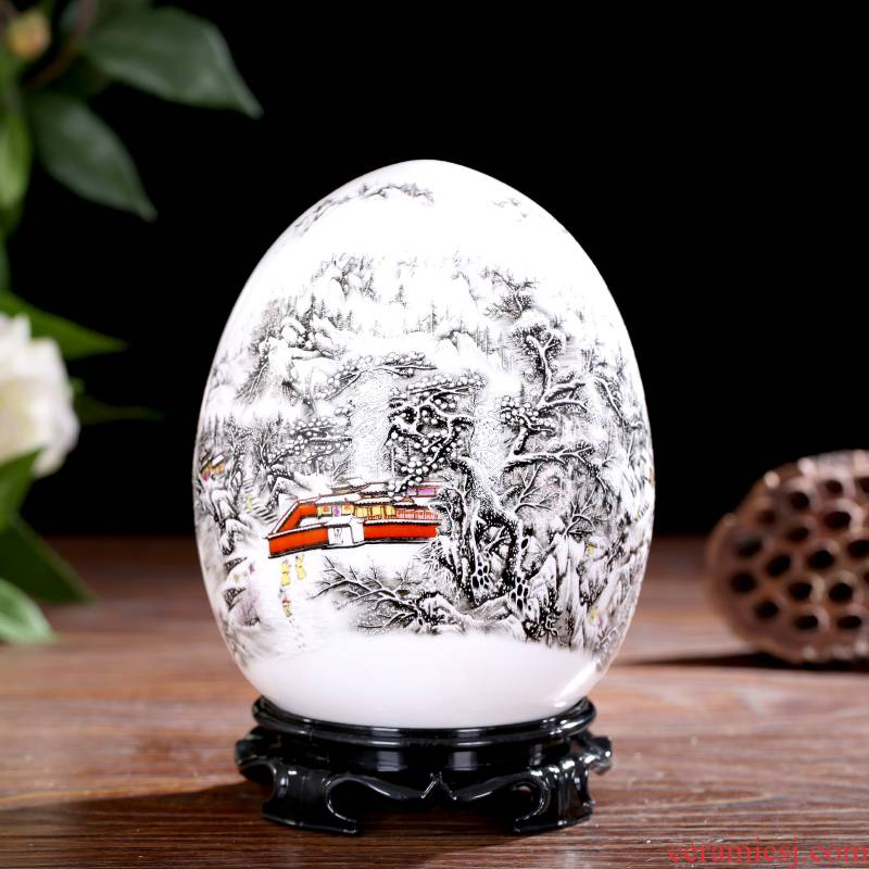 Jingdezhen ceramics f egg bottles of modern Chinese creative home decoration TV ark, rich ancient frame handicraft furnishing articles