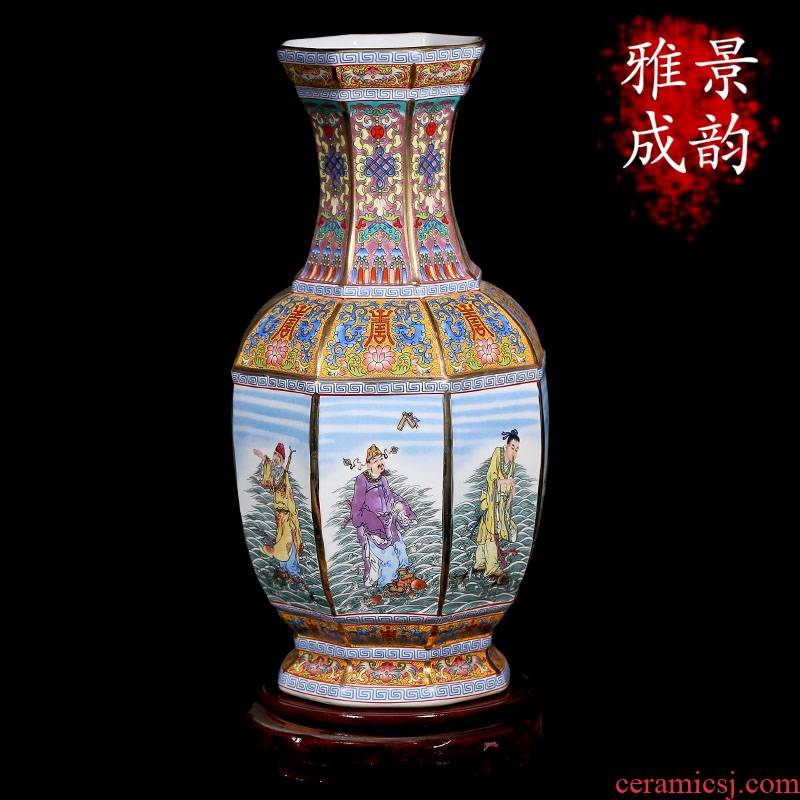 Archaize furnishing articles furnishing articles porcelain of jingdezhen ceramics crafts antique porcelain Chinese style new Chinese blue and white porcelain vase